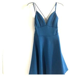 Blue A line  Mini dress
